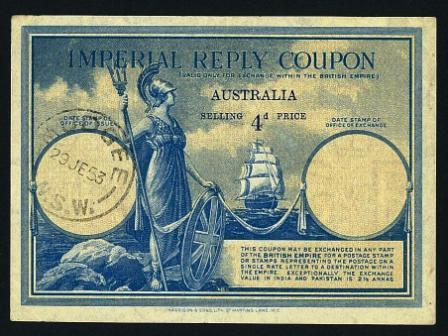 Australia Imperial Reply Coupons The Stamp Forum Tsf