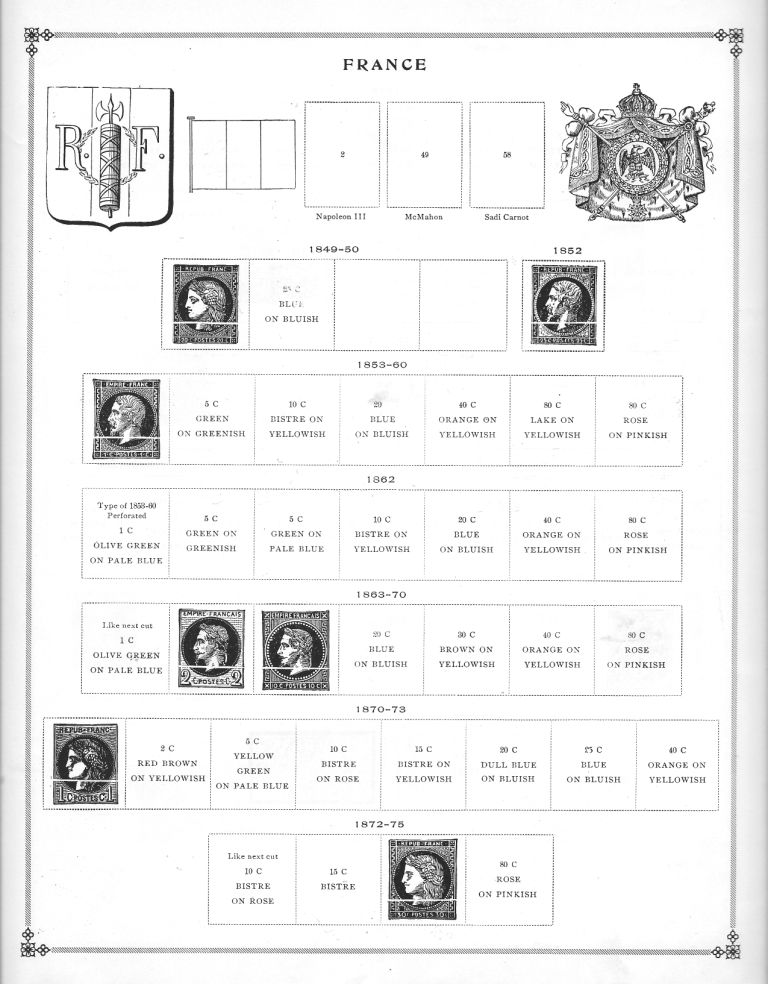 Old Scott Album Labels: Flags, Rulers & Coats of Arms   The